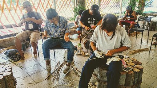 ワークショップでは、台湾の伝統的な日用品を作ることもできる(写真は別会場で実施されたときの様子)