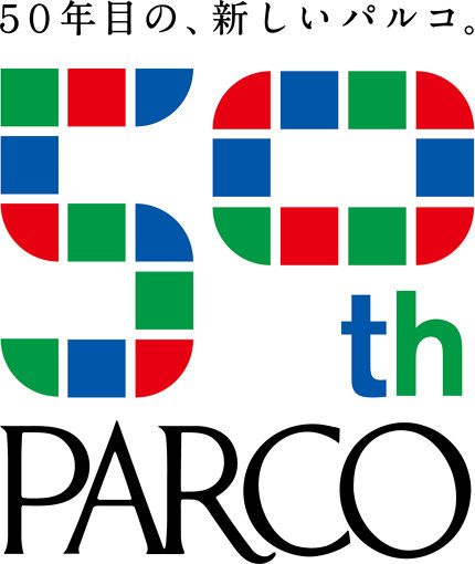小杉幸一デザインのパルコ50周年ロゴ