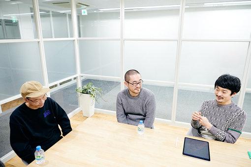 左から:田中良治、谷口暁彦、萩原俊矢