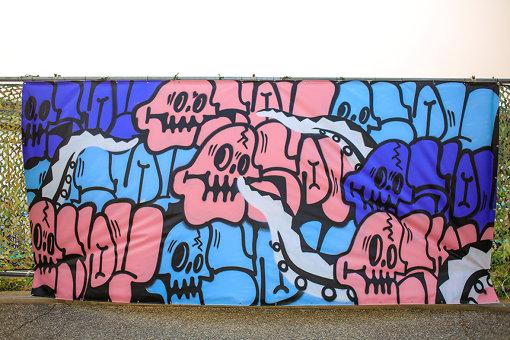 『YON FES』で描かれた、ESPY氏による作品