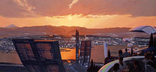『Tokyo 2040』(1991年)©Syd Mead, Inc