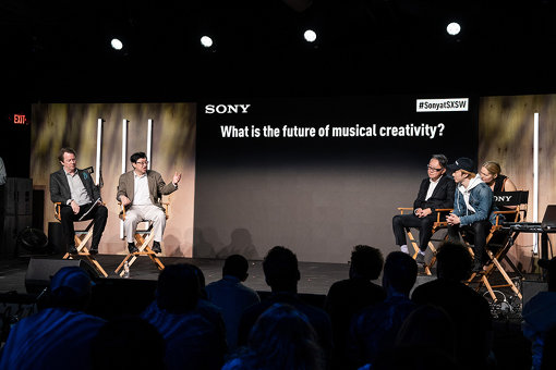 『What is the future of musical creativity?』セッションでのひとコマ