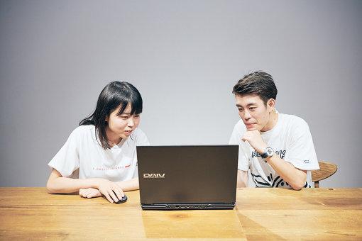 映像制作に使用したノートパソコンは「DAIV-NG5800U1-M2SH5」