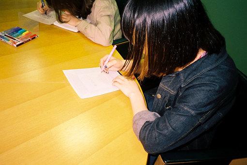 3人は、過去の自分にひと言レターを書く