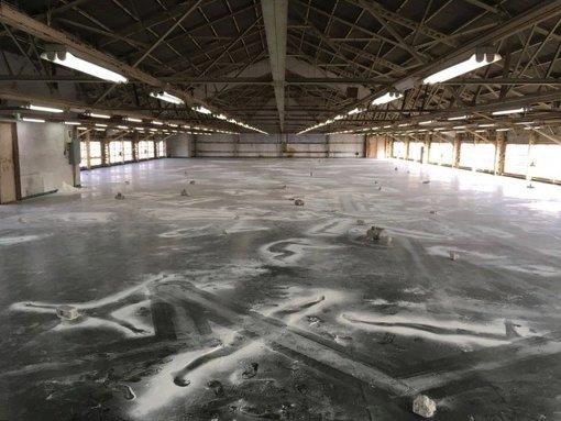 『クロニクル、クロニクル!』2016年 CCOクリエイティブセンター大阪(大阪)小麦粉、石、ルンバ、隕石