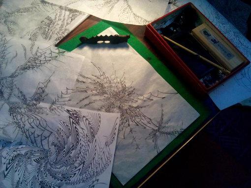 『Practicing for write』2014 奈良・町家の芸術祭 はならぁと、ミクストメディア