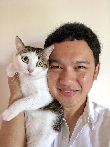 タムくんと、飼い猫のすしちゃん