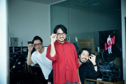 左から:高田唯、東郷清丸、後藤洋平