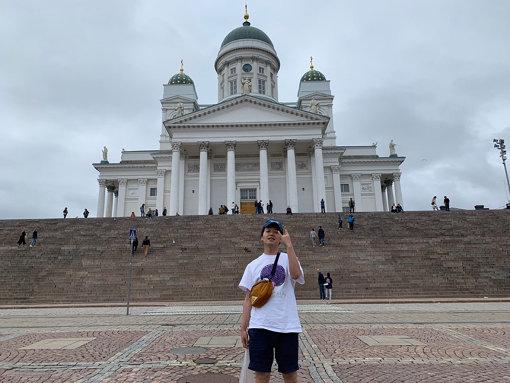 フィンランドを楽しむ金子。写真提供:TBSラジオ