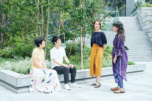 左から:中村茜、臼井隆志、清水淳子、金森香