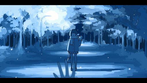 はるまきごはんが描いた『雪夜』