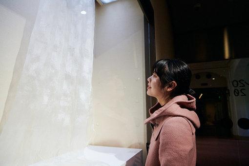 上原美智子『たてわく 白』(2004年) / とても薄いの手織りの絹布に魅入ってしまう