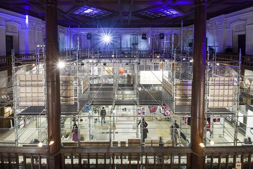 『ARTISTS' FAIR KYOTO 2019』会場風景 会場デザイン:dot architects(ドットアーキテクツ) 撮影:前端紗季