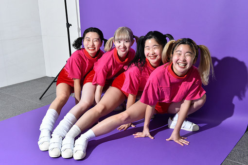 左から:ユナ、ユウキ、カナ、マナ