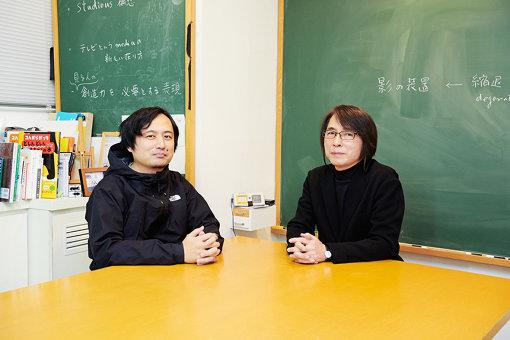 左から:佐藤匡、佐藤雅彦(ユーフラテスの事務所にて)