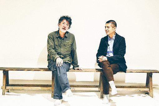 左から:会田誠、菅付雅信