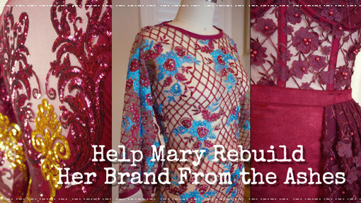 『Help Mary Rebuild Her Brand from the Ashes!』 / アトリエが火事になってしまったファッションデザイナーが救済を求めるプロジェクト。残念ながらプロジェクトは不成功だったようだ