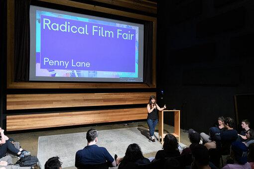 2019年、Kickstarter本社内シアターで開催された『Radical Film Fair』