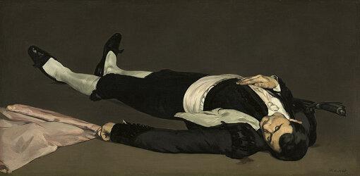 エドゥアール・マネ『死せる闘牛士』1864年(Wikipedia Commonsより)
