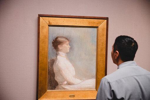 オディロン・ルドン『ポール・ゴビヤールの肖像』(1900年 / 岐阜県美術館蔵)