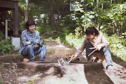 ドラマ『ペンションメッツァ』の第3話「燃す」より(画像提供:WOWOW)