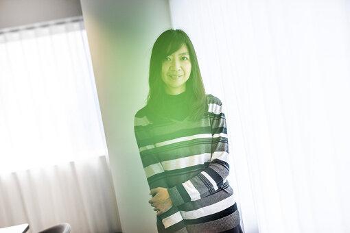 芦澤紀子(あしざわ のりこ)<br>ソニーミュージックで洋楽・邦楽の制作やマーケティング、ソニー・インタラクティブエンタテインメント(SIE)で「PlayStation Music」の立ち上げに関わった後、2018年にSpotify Japan入社。<br>写真は、2019年12月撮影。