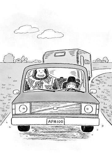 『ゴリランとわたし』より、主人公たちが乗るVOLVOの車