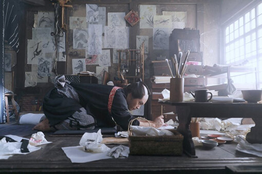 柳楽優弥演じる若き日の葛飾北斎 ©2020 HOKUSAI MOVIE