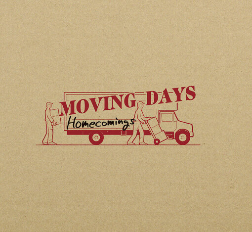 Homecomings『MOVING DAYS』初回限定版ジャケット。アートディレクションはサヌキナオヤが手掛けた