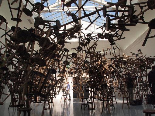 『第55回ヴェネチア・ビエンナーレ国際美術展』(2013年)でのドイツパビリオン。艾未未による展示 / 撮影:大西若人