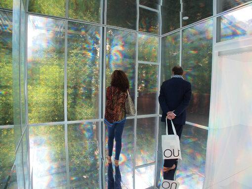 『第55回ヴェネチア・ビエンナーレ国際美術展』(2013年)での韓国パビリオン。金守子による展示 / 撮影:大西若人