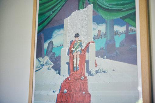 作業スペースの後ろに飾られていた『AKIRA』のポスター