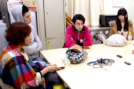 写真左から:中林舞、山崎皓司、天野史朗、北川陽子