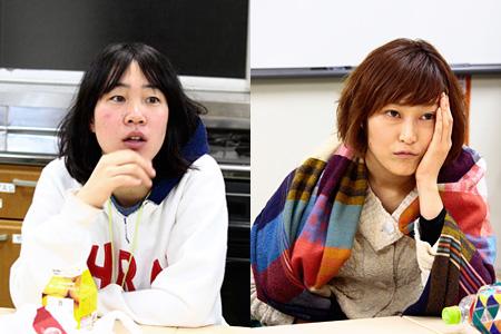 写真左から、演出:篠田千明、役者:中林舞(通称:ヤシ)