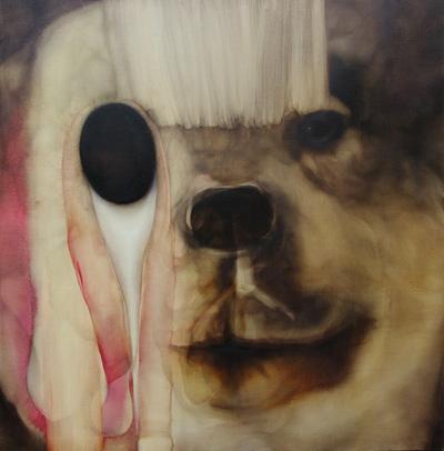 ウルフ/Wolf 1455×1455 oil on canvas