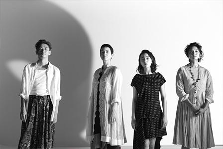 左から:窪塚洋介、ジュリー・ドレフュス、美波、小島聖 撮影:尾嶝太