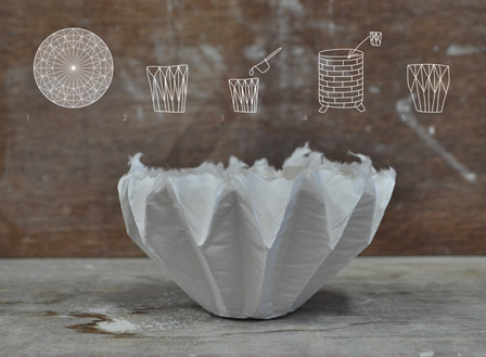 五十嵐瞳による作品『Making Porcelain With an ORIGAMI』