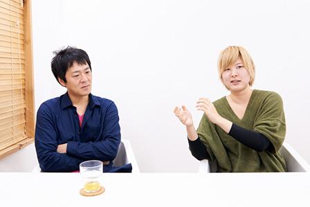 左から:安原兵衛、ミユキ