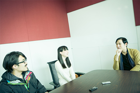 左から:junet kobayashi(TAMTAM)、kuro(TAMTAM)、ミト(クラムボン)
