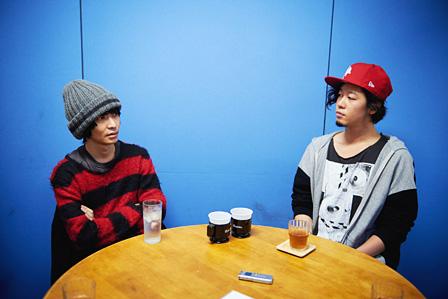 左から:木下理樹(ART-SCHOOL)、石毛輝(the telephones)