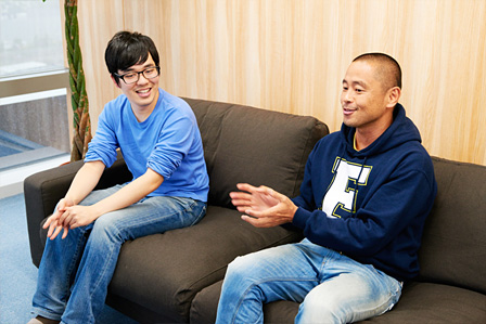 左から:石田祐康、田中淳一