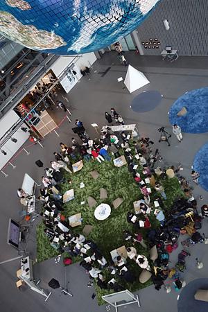 日本科学未来館『地球合宿』の様子