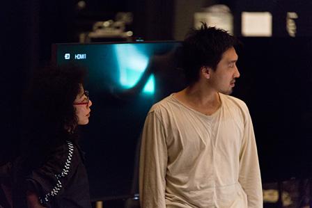 安藤洋子(左)、田根剛(右) 写真提供:山口情報芸術センター[YCAM]