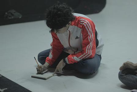 バンコクでの『幼女X』稽古の様子 撮影:Teeraphan Ngowjeenanan