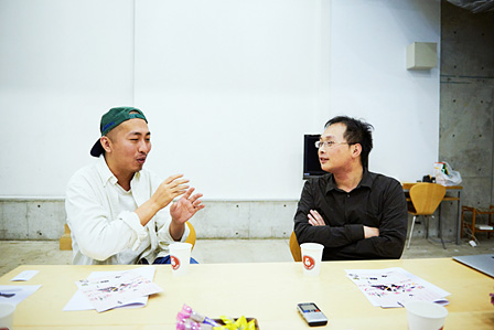 左から:三宅唱、深田晃司