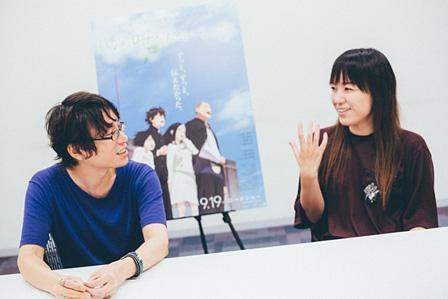 左から:長井龍雪、岡田麿里
