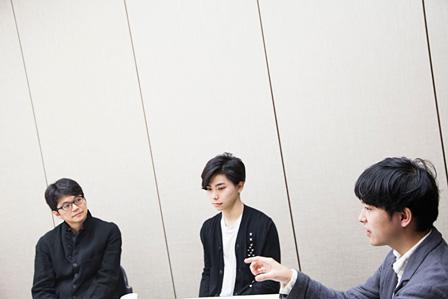 左から:穂村弘、村上虹郎、藤田貴大