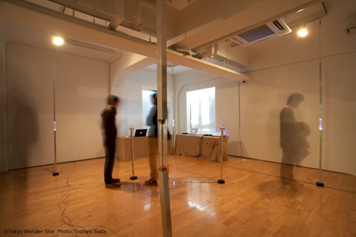 『EXPERIMENTAL SOUND, ART & PERFORMANCE FESTIVAL - 2009 -』+LUS(小野寺唯、小柳淳嗣、濱崎幸友、神谷泰史)展示風景