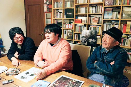 左から:あだち麗三郎、澤部渡、鈴木慶一