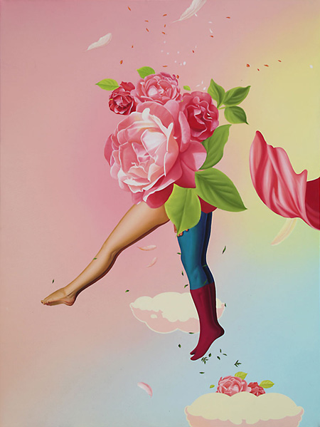 トゥクラール&タグラ Thukral & Tagra『Fiction Love # II』 Oil on canvas 48